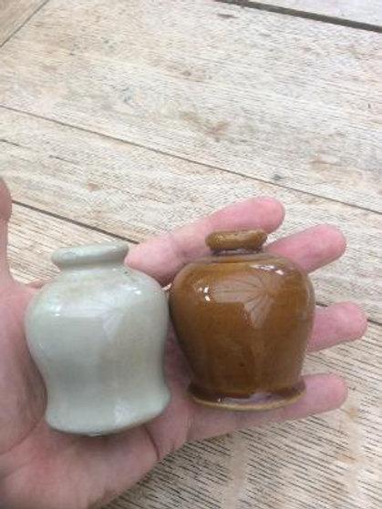 "Mercury jar ""1"" bristol glaze c1890"