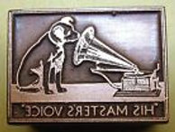 HMV dog & gramophone printblock copperplate