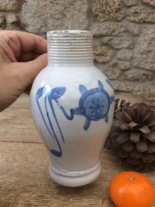 Delft handled mustard jar