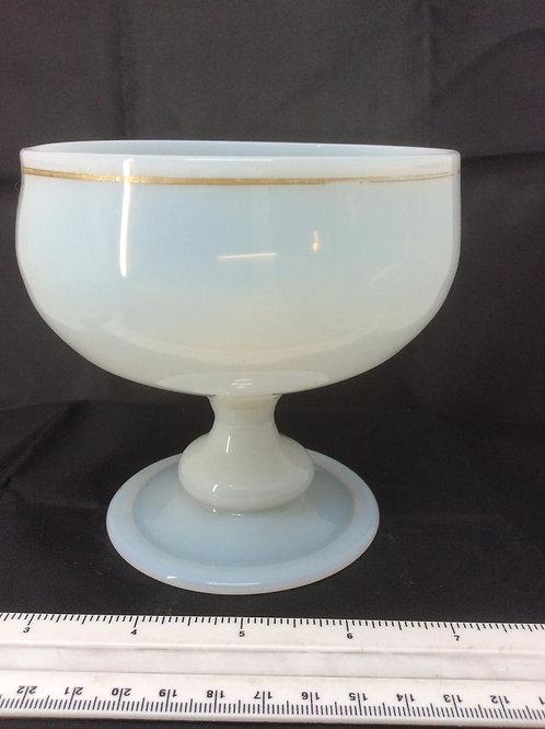 Opal milkglass pedestal sugar bowl