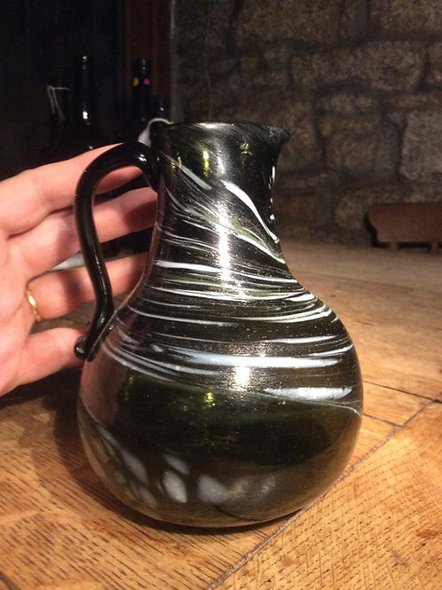 Wrockardine striated Nailsea type jug 1810