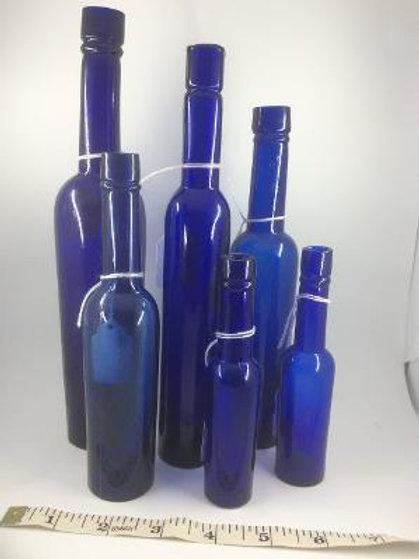 Cobalt blue cylinder longneck caster oils