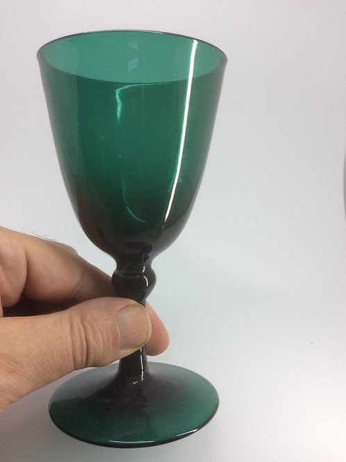 Bristol green Georgian knopped stem wineglass