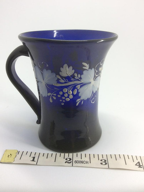 Fine enamel decorated handled beaker