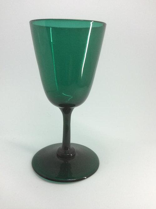 Georgian Bristol green conical bowl glass