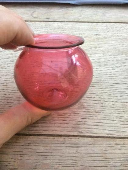 Pale ruby leech jar c1850