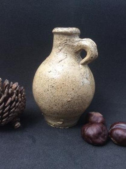 c1650 squat stoneware oil bottle