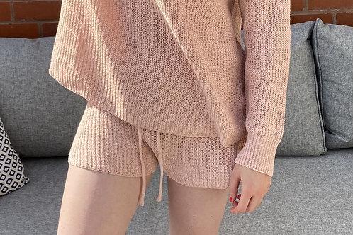 Blush Basic Knitted Shorts