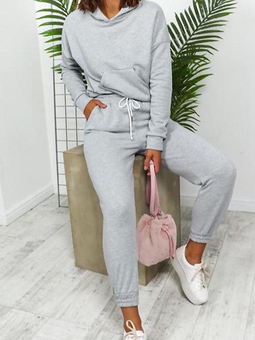 Gret Crop Hood Loungewear set