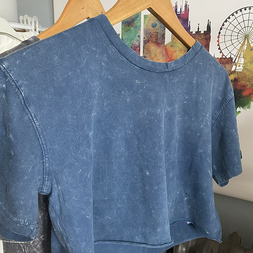 Oversize Acid Washed Cropped T-Shirt