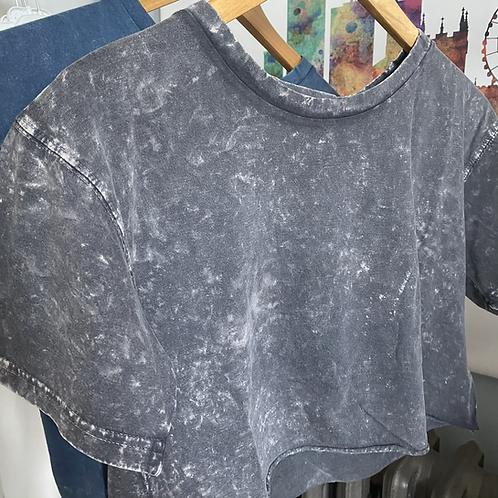 Oversized Acid Washed Cropped T-Shirt