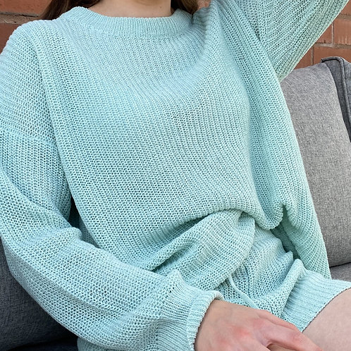 Mint Basic Knitted Jumper