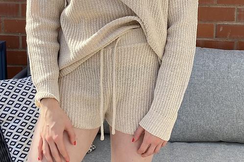 Stone Basic Knitted Shorts