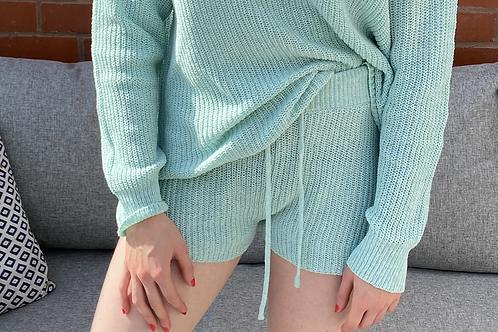 Mint Basic Knitted Shorts