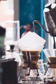 Goutte à goutte café Verser