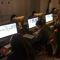 La sala di montaggio della Napoli Film A