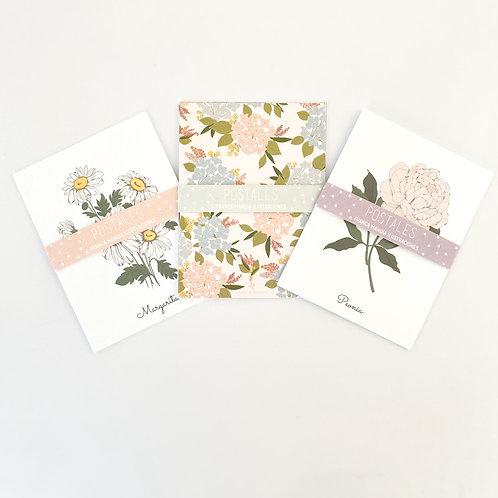 Pack Postales Florales Pastel