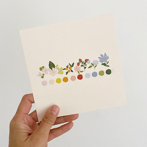 Print Paleta Floral