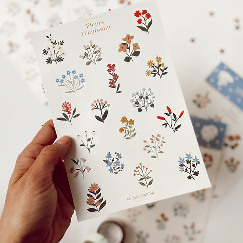 Stickers Fleurs D´automne