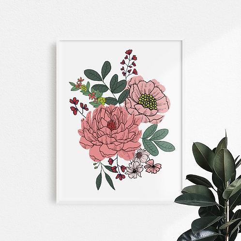 Print Dalia Color