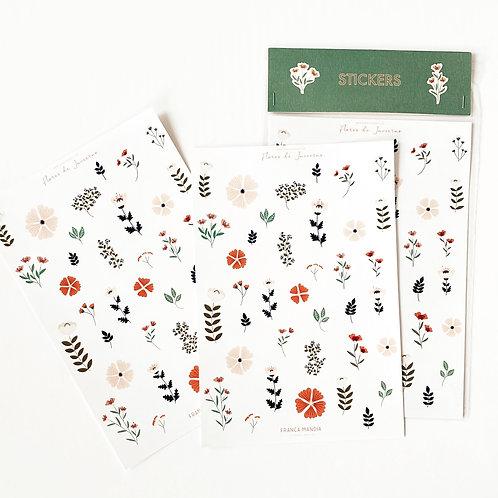 Stickers Flores de Invierno