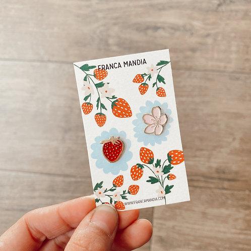 Pack de pins Frutillas y Cherry Blossoms II
