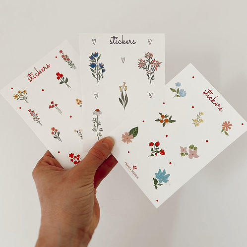 Combo Mini Planchas de Stickers