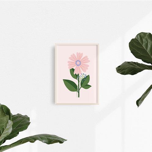 Print Flor Rosa