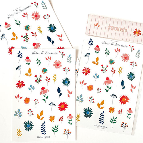 Stickers Flores de Primavera