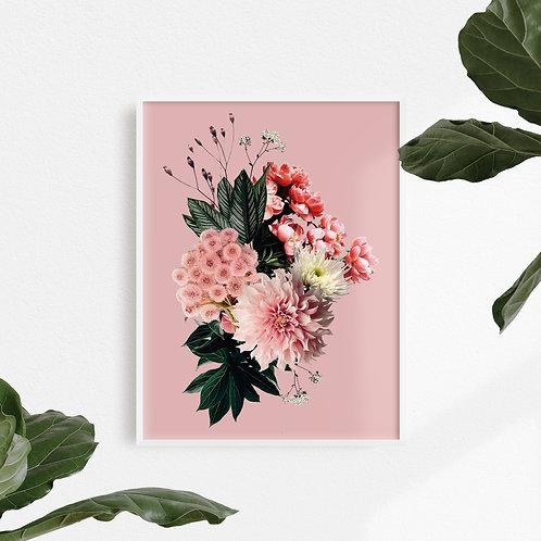 Collage Digital Hot Pink