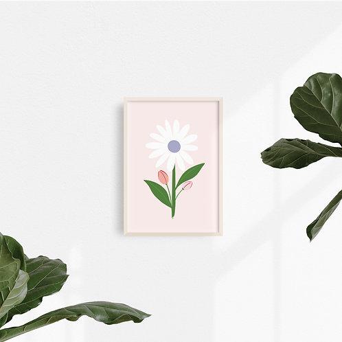 Print Flor Blanca