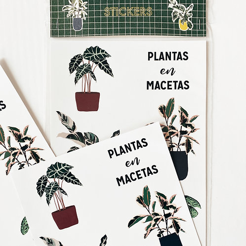 Stickers Plantas en Macetas