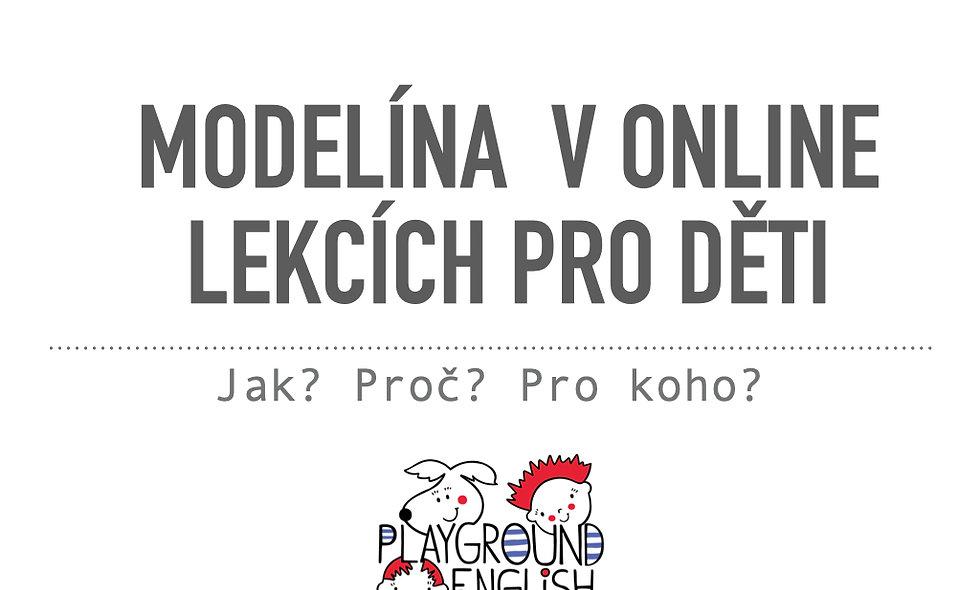 Modelína v online lekcích pro děti