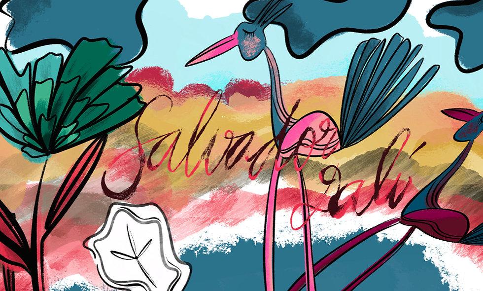 Art lesson inspired by Dalí