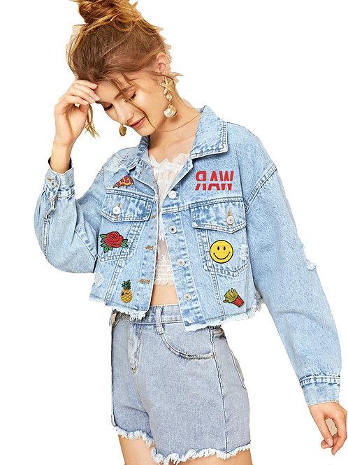 Distressed RAW Denim Jacket