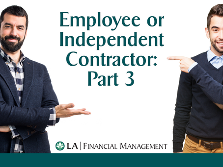 Employee Vs. Independent Contractor Part 3: Classifying Correctly