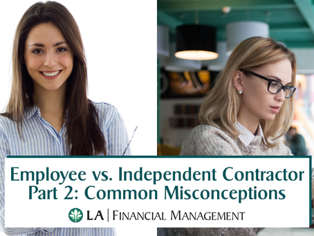 Employee vs. Independant Contractor Part 2: Common Misconceptions