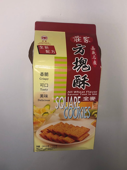 Chuang's Square Cookies (All Wheat Flavor) 莊家方塊酥(全麦)