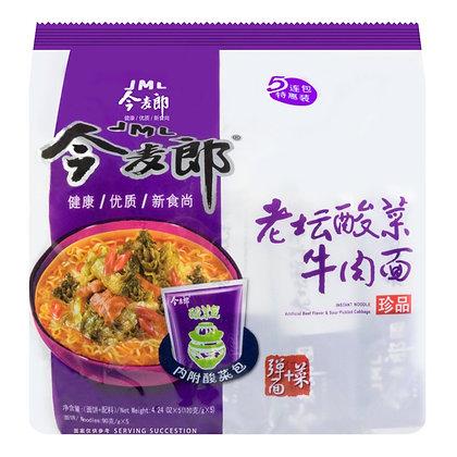 Beef Flavor & Sour Pickled Cabbage Ramen 今麦郎老坛酸菜牛肉面