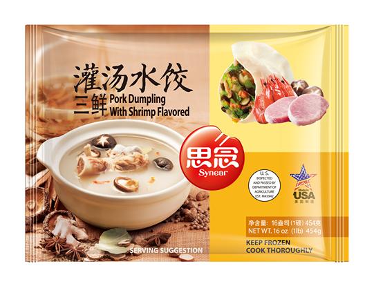 Synear Pork Dumpling With Shrimp Flavored 思念三鲜灌汤水饺