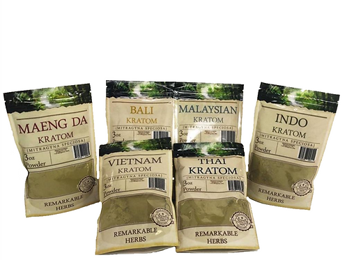 Remarkable Herbs Kratom Powder (Various Sizes and Strains)