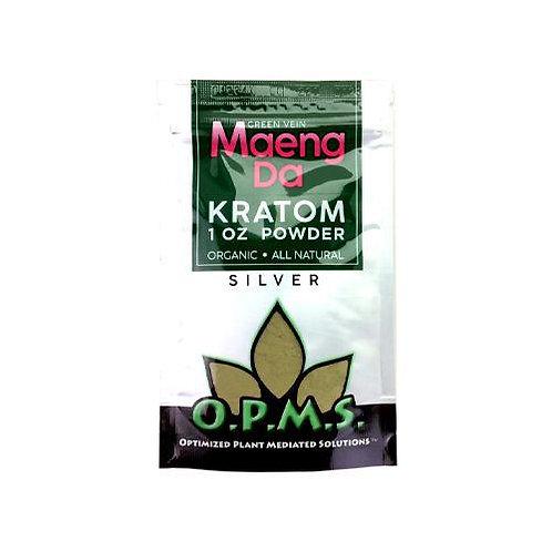 O.P.M.S. Silver Kratom Powder (1oz)
