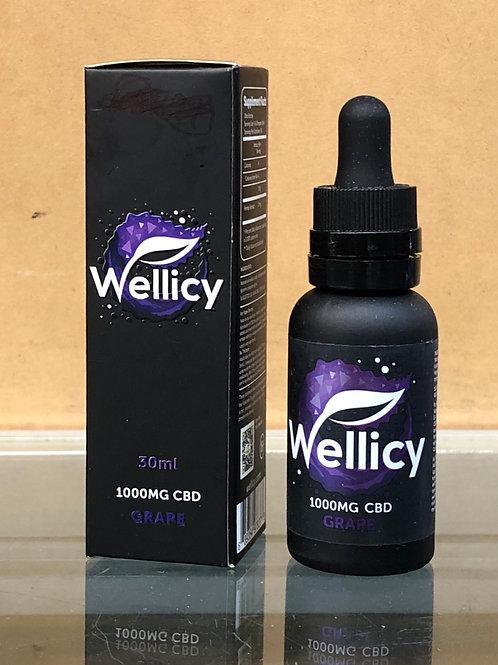 Wellicy Grape CBD Oil (1000mg)