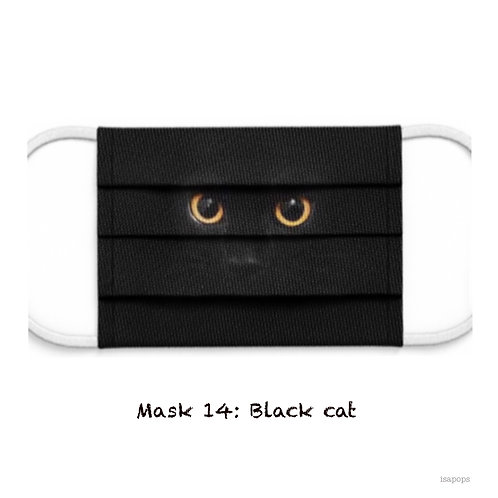 Mondmasker 14 Black Cat