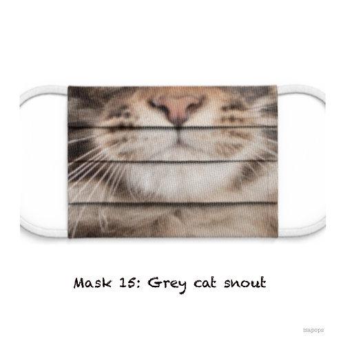 Mondmasker 15 Grey Cat Snout