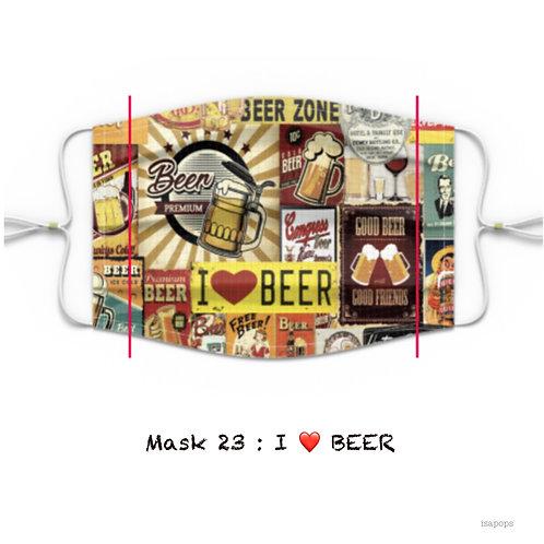 Mondmasker 23 I LOVE BEER
