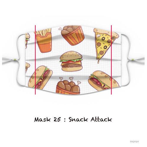 Mondmasker 25 Snack Attack