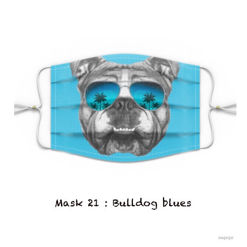 Mondmasker 21 Bulldog Blues