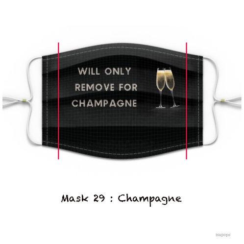 Mondmasker 29 Champagne
