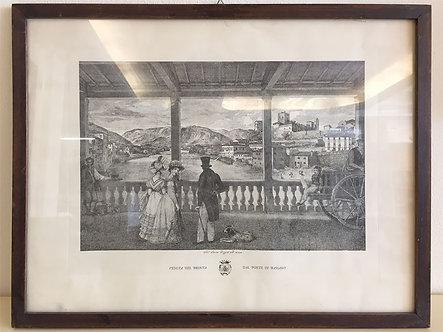 """LQC031 - Stampa antica """"Ponte di Bassano"""""""